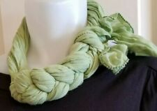 Light Green NECK SCARF Knot ACCESSORY Braided Slipover