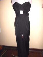 Nylon Halter Women's Maxi Dresses