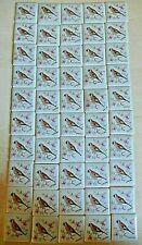 LIMOGES FRANCE 50 x Miniature Mosaic Tiles ~ Identical Birds On Flowers ~ 3.50cm