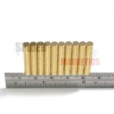 Tiny magnets 4x1 mm N52 neodymium disc GOLD plated craft jewellery 4mm dia x 1mm