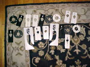 Lot White Clothes Rack Garment Tag Number Rectangular Younkers Store Sort 2-8