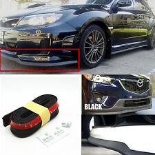 Car Universal Front Bumper Lip Splitter Chin Spoiler Skirt Rubber Protector Body
