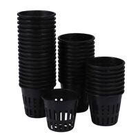 50 StüCk Pflanz KöRbe Kunststoff Mesh Pot Pflanze Wachsen Cup fürF7F5