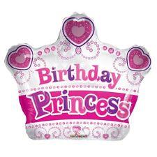 "18"" HAPPY BIRTHDAY PRINCESS CROWN TIARA FOIL HELIUM BALLOON apac 15103"