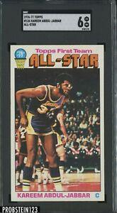 1976-77 Topps Basketball #126 Kareem Abdul-Jabbar All-Star HOF SGC 6 EX-NM