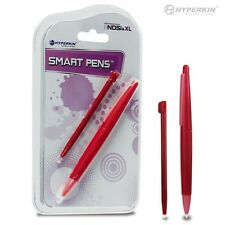 NEW Sealed 2 STYLUS SET DSi XL Smart Pens (1 Large, 1 Small) (RED) - Hyperkin