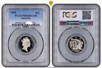 1985 Australia Ten Cent, 10c Proof PCGS - PR66DCAM -790