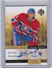 MONTREAL CANADIENS 2011-12 ULTIMATE COLLECTION ALEXEI EMELIN AUTOGRAPHED RC #'D