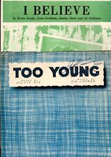 SHEET MUSIC BARGAIN CLEARANCE!  2-Bundle: TOO YOUNG / I BELIEVE