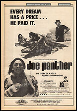 JOE PANTHER__Original 1977 Cannes Trade AD promo_poster__BRIAN KEITH__RAY TRACEY