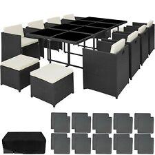 Poly Salotto in Rattan Alluminio Mobili da Giardino Lounge Sedia Sgabello Tavolo