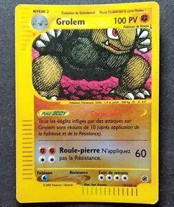 GROLEM 14/165 - REVERSE - EXPEDITION - CARTE POKEMON 2002 VF rare