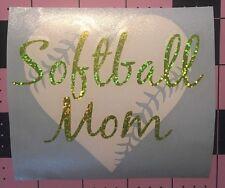 Softball Mom Heart Decal For Your Yeti Rambler Tumbler, RTIC, Window