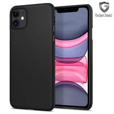 Apple IPHONE XR TPU Gel Silicone Caoutchouc Slim Mince Housse Étui En Noir Mat