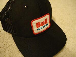 BELL HELICOPTER Black Snapback Hat