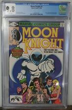 Moon Knight #1 White Pages CGC 9.8 Marvel 1980 TV show coming soon 1st Bushman