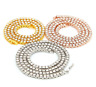 Hip Hop Mens Women 1 Row Tennis Chain 3/4/5mm Link Curb Cuban Necklace Jewelry