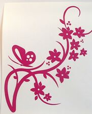 adesivo fiore murale decal sticker vinile ritagliato sticker flower muro wall