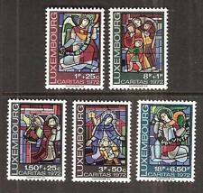 LUXEMBOURG # B287-91 MNH STAINED GLASS WINDOWS