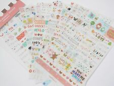 Kawaii Diary Deco Transparent Kitsch Scrapbooking Cute Korean Sticker Set 6 pgs