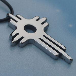 classic cross hi-tech scratch proof tungsten pendant necklace 25.3g