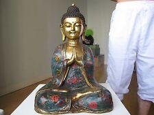 Tibet Buddhism Temple Bronze Gilt cloisonne Tathagata Sakyamuni Buddha Statue