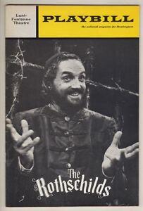 "Bock & Harnick  ""The Rothschilds""   Playbill  1971  Hal Linden  Broadway"