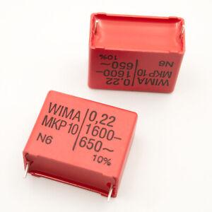 2 Stück WIMA MKP10-1600 220N Impulskondensator, 220nF, 27,5mm, Insekten Schröter