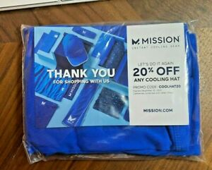 Mission Cooling Neck Gaiter 12 Ways to Wear Face Mask Headband Head Wrap Blue