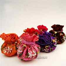 Wholesale10pcs Chinese Handmade Vintage Brocade Silk Cute Jewelry Bags Pouch Bag