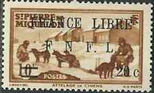 France St Pierre & Miq Stamps 249 Yv  274 20c/10c Brn Libre MNH VF 1942 SCV $15*
