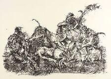 HORST ZICKELBEIN - Versuchung des heiligen Antonius - Lithografie 1967