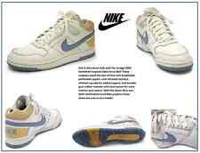 Men's Nike White/Gold/Legend Blue Leather Delta Force Mid: Size 11.5 M