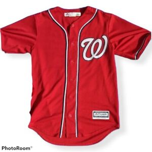 Men's Majestic Cool Base MLB Washington Nationals jersey Harper #34 SZS S Adult