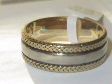 Mens 8mm gold band ring no stone 18kt stainless steel thumb wedding new  2375