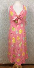 NWT Liz Clairborne Summer Picnic Dress Sz 12 Halter Drinks Print Retro