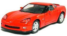 """5"""" Kinsmart 2007 Chevrolet Corvette Z06 Diecast Model Toy Car 1:36 Chevy RED"""