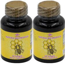 2 Bottles Bee Propolis, Zinc Gluconate, coconut oil  Lecithin 120 Softgels