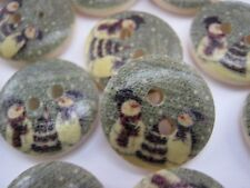 "10 Christmas Snowman Buttons 15mm (5/8"") Christmas Clothes Sewing Buttons Crafts"