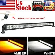 52inch 300W Strobo Amber/White Dual colors Led Work Light Bar for 4wd SUV UTE