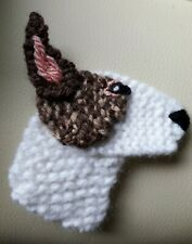 ENGLISH BULL TERRIER KNITTED BROOCH