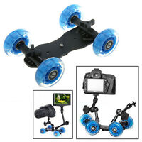 4 Wheels Dolly Skater Slider Plate Table Top for DSLR Camera / DV Video