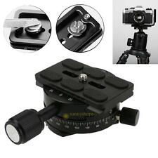 360 Degree Panoramic Base Panning Head Clamp Quick Release Plate for DSLR Camera