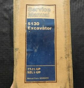 GENUINE CATERPILLAR 5130 EXCAVATOR SERVICE REPAIR MANUAL SERIAL # 7TJ1 5ZL1