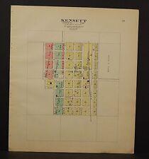 Iowa Worth County Map Kensett 1913 L13#30