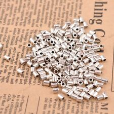 100Pcs Tibetan Silver Tube Charm Spacer Beads Jewelry Findings 4X3MM A3044
