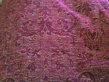 Laura Ashley Rosso Oro Damasco Velluto Tessuto Remnant