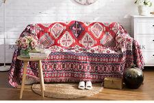 Vintage Bohemian joyous wall hangings throw sofa cover blanket jacquard decor