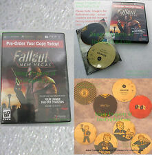 Fallout New Vegas Pre-Order Promo Coasters Set of 4 - Factory SEALED in DVD Case