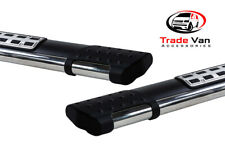 FORD TRANSIT CUSTOM BLACK EMERALD RUNNING BOARDS SIDESTEPS SIDEBARS SWB 2012 ON